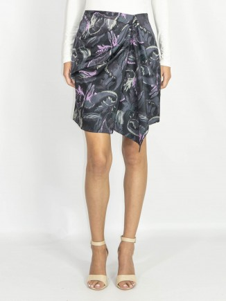 Wrapped crafted skirt short length Constantine Renakossy