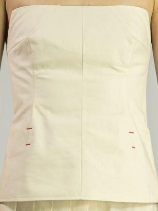 Crafted linen top Adriana Goilav