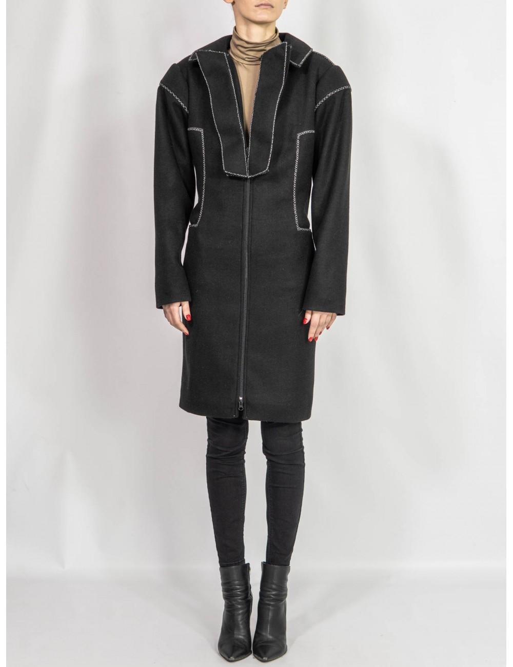 Crafted wool coat Adriana Goilav