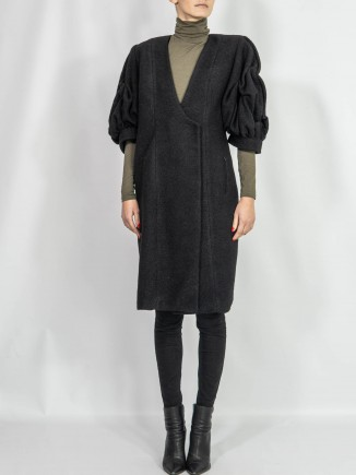 Crafted coat oversized sleeves Sabinne