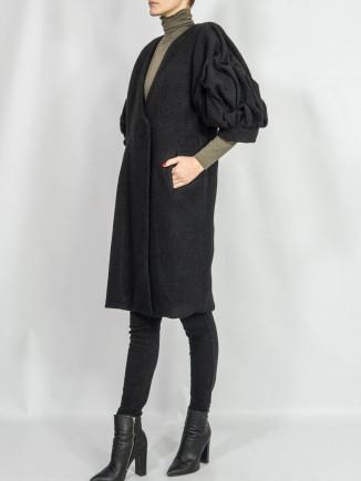 Crafted coat oversized sleeves Sabinne