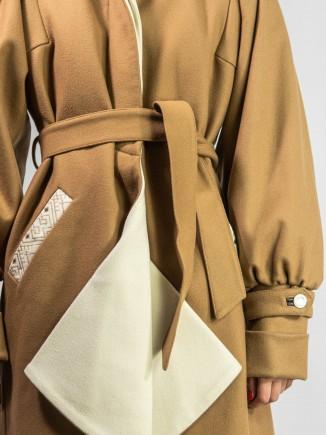 Sustainable crafted coat Alina Moza