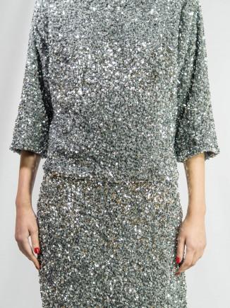 Crafted sequins suit Diana Caramaci