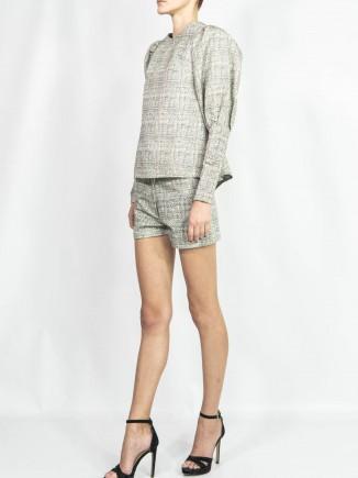 Crafted brocade suit Diana Caramaci