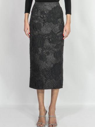 Crafted brocade skirt Diana Caramaci
