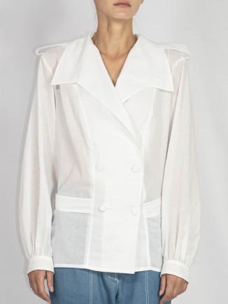Organic cotton white shirt Constantine Renakossy