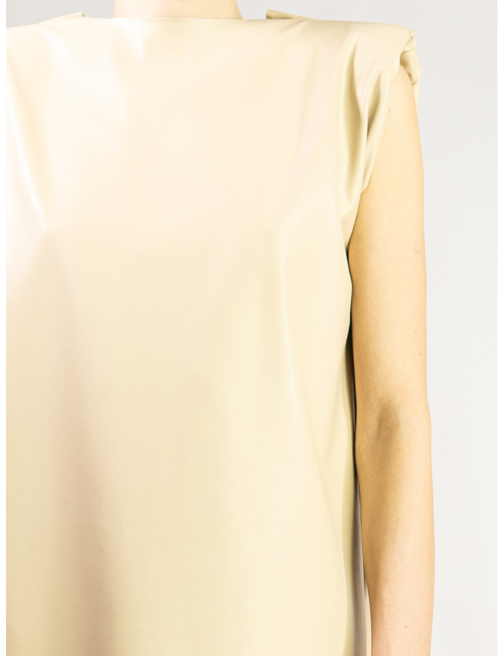 Crafted eco leather Tshirt/...
