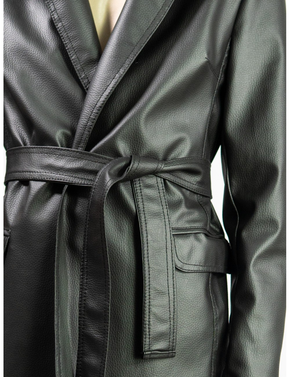 Crafted eco leather jacket...