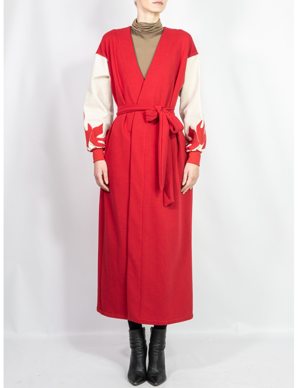 Crafted red coat/cardigan...