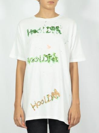 Hooldra painted T-shirt x Mira
