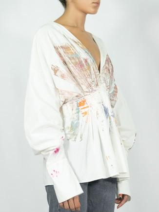 White painted shirt x Mira