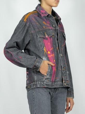 Painted jacket x Jacqueline