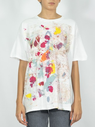 Colorful painted T-shirt x...
