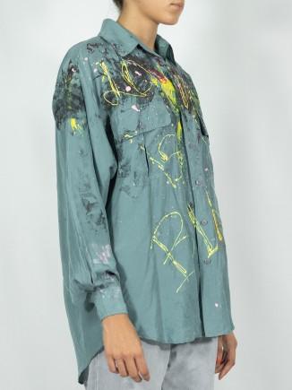Green painted shirt x Mira