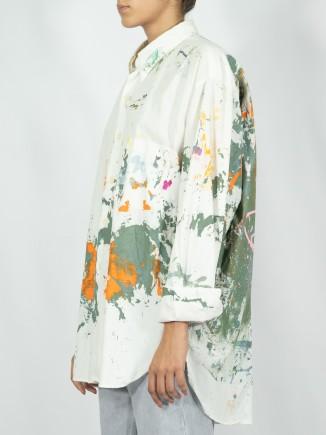 Upcycled painted shirt x Mira
