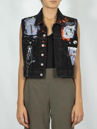Upcycled vest x Mira