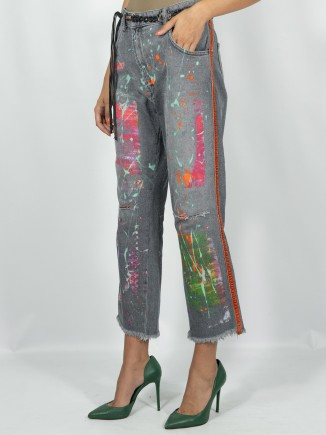 Second hand upcycled jeans...