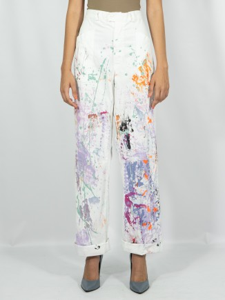 Upcycled painted pants x Mira