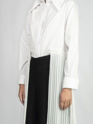 Crafted pleated white shirt Chaotic