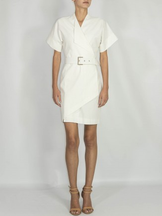 Crafted white dress Ramelle