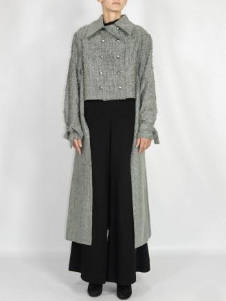 Sustainable unique coat Madalina Mihalcea