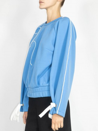 Crafted blue top  Ramelle