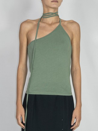 Recycled fabrics sustainable green top Gnana