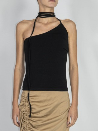 Recycled fabrics sustainable black top Gnana