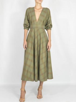 Recycled fabrics dress Gnana