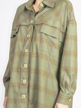 Recycled fabrics sustainable shirt/dress Gnana