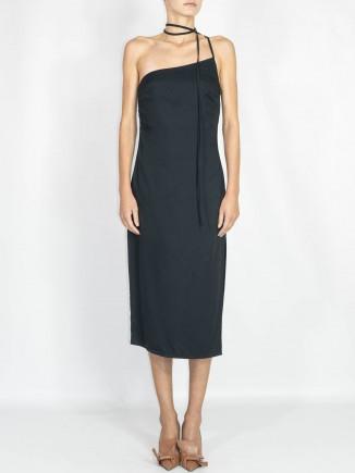 Recycled fabrics black dress Gnana