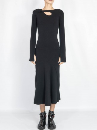 Sustainable crafted black dress Gnana