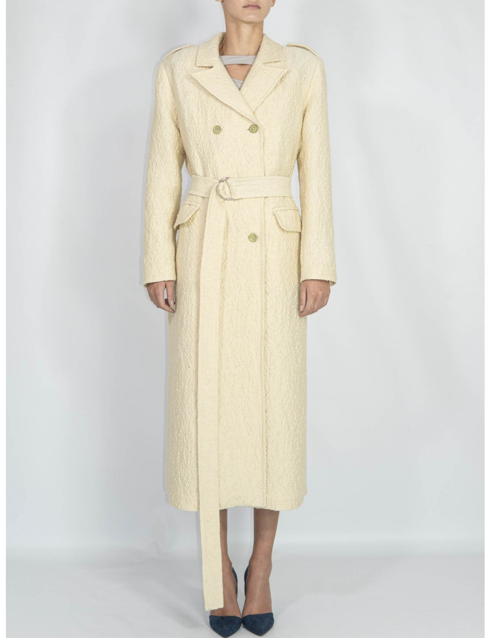 Ethical wool coat Gnana