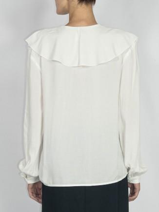 Recycled fabrics white shirt Gnana