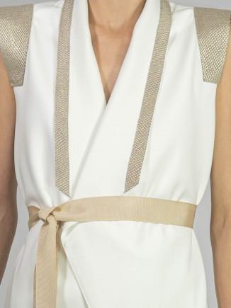Ivory crafted dress/cardigan A&S Negulescu