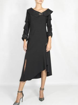 Crafted black dress A&S Negulescu