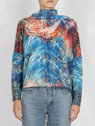 Multicolor crafted top Maam with love
