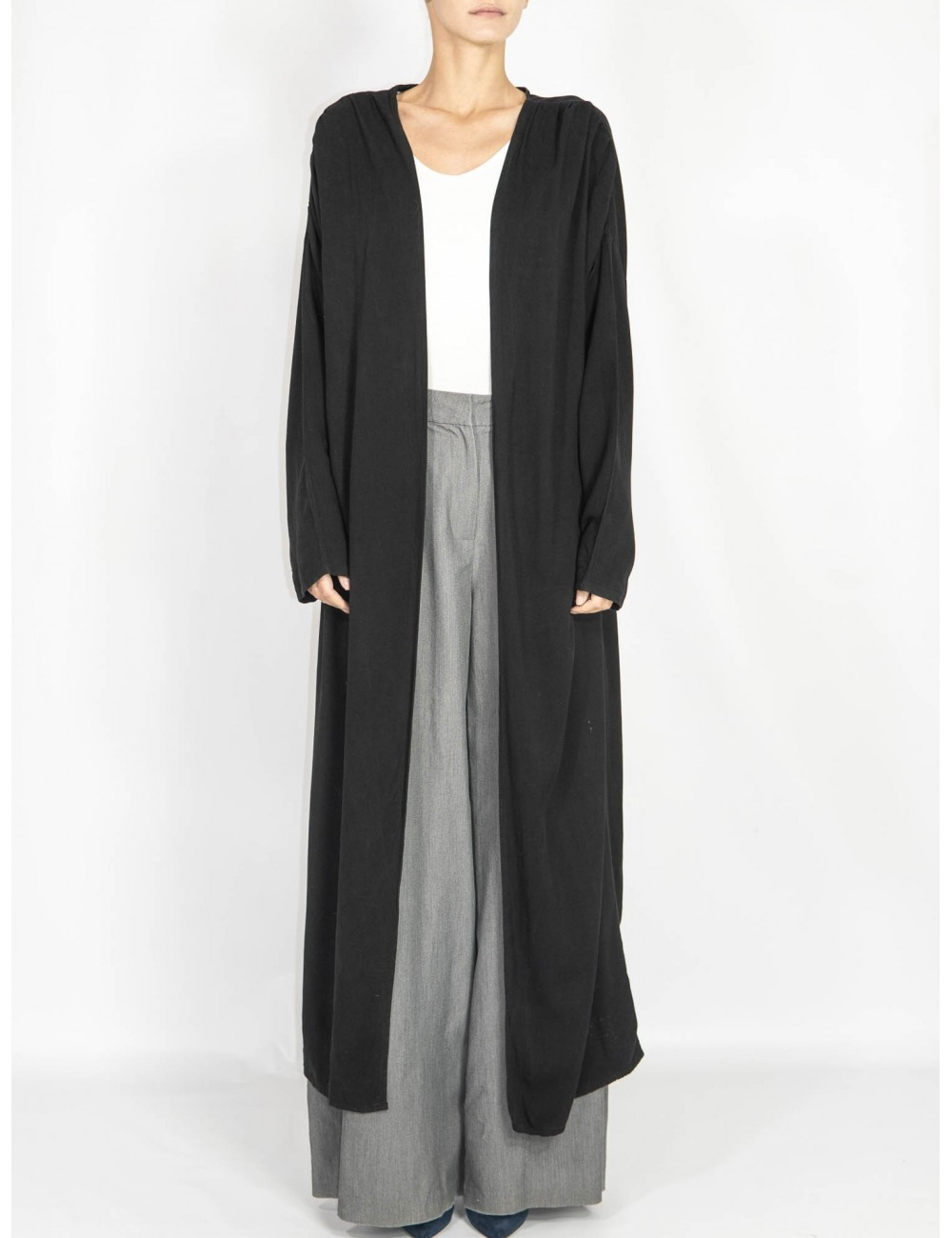 Crafted black coat/cardigan  Maam with love
