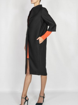 Black crafted coat Maam with love