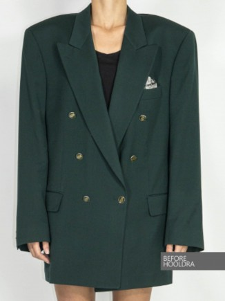 Oversized upcycled vintage jacket Hooldra