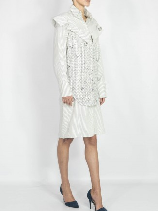Digital embroidered unique crafted shirt/dress Diana Chis