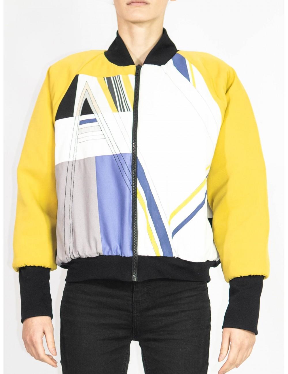 Unique crafted bomber jacket Olga Mihoc