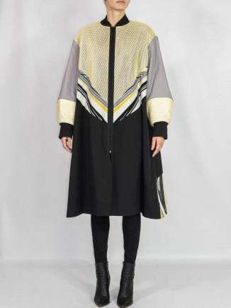 Unique crafted coat Olga Mihoc