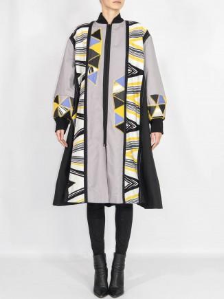 Crafted unique coat Olga Mihoc